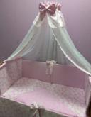 Комплект в кроватку Евротек Микки сатин зеленый 6 пр. 38274