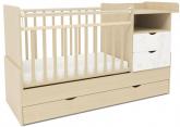 Детская кровать-трансформер СКВ 5 Жираф береза-белый