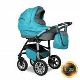 Детская коляска 2 в 1 Smile Line Indiana 17 len