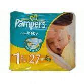 Подгузники Pampers (Памперс) New Baby Newborn, 2-5 кг, 27 шт.
