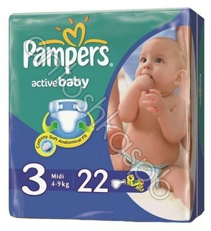 Подгузники Pampers Active Baby Midi 4-9кг 22шт. 81341007
