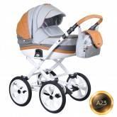 Детская коляска 2 в 1 Adamex Marcello Carmel&grey