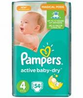 Подгузники Pampers Active Baby Dry Maxi 8-14 кг 54 шт