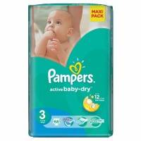 Подгузники Pampers Active Baby Dry Midi 4-9 кг 68 шт