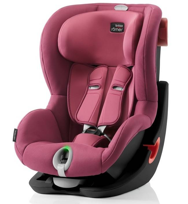 Детское автокресло 9-18 кг Britax Roemer King II LS Black Series Wine Rose