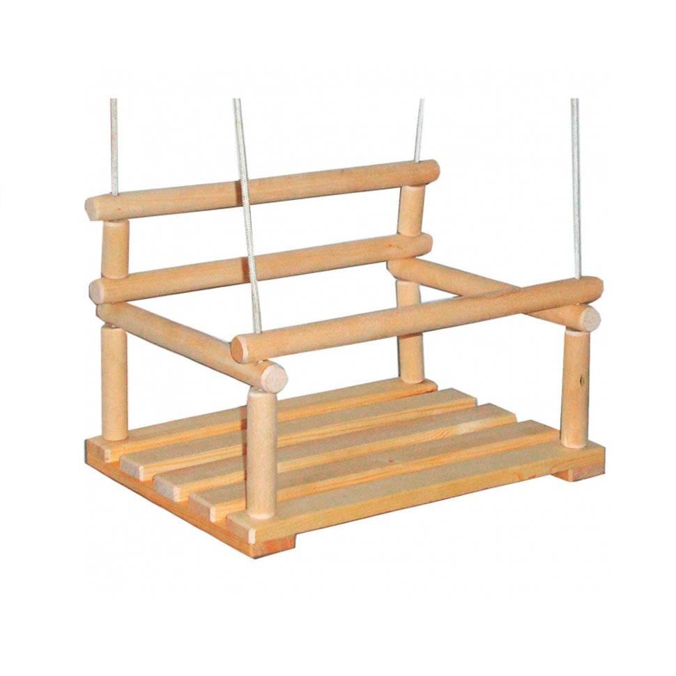 качели детские подвесные вятские сани классик деревянные купить в