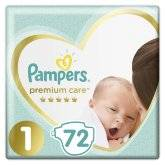Подгузники Pampers Premium Care Newborn 2-5кг 72шт.