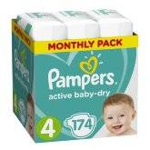 Подгузники Pampers Active Baby-Dry Maxi 9-14 кг, 174 шт.