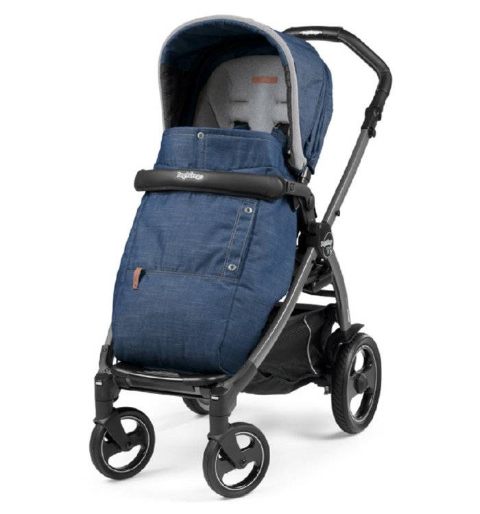 Коляска прогулочная Peg-Perego Book Plus Pop Up Sportivo с шасси Book Plus 51 Jet urban denim