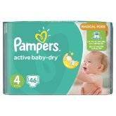 Подгузники Pampers Active Baby-Dry Maxi 8-14 кг, 46 шт.