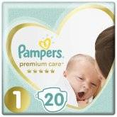 Подгузники Pampers Premium Care Newborn 2-5кг, 20шт.