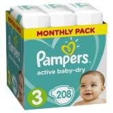 Подгузники Pampers Active Baby-Dry Midi 6-10 кг 208 шт.