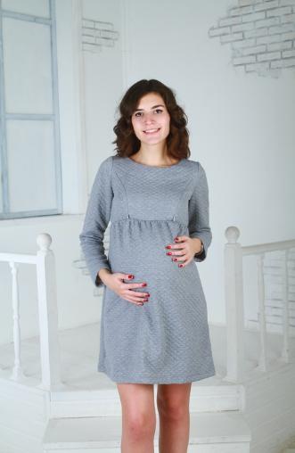 8d00ddea0f2c Платье для беременных и кормящих Piccaninnyclub Ариадна серый купить ...