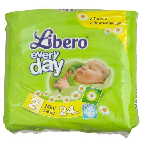 Подгузники Libero Everyday Mini 3-6 кг, 24 шт