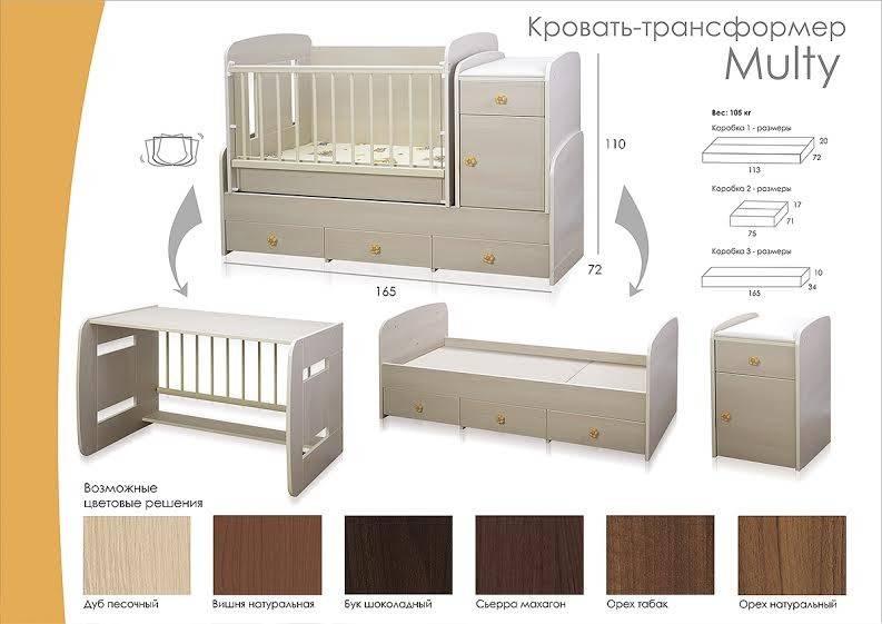 Кровать трансформер новорожденных пеленальным