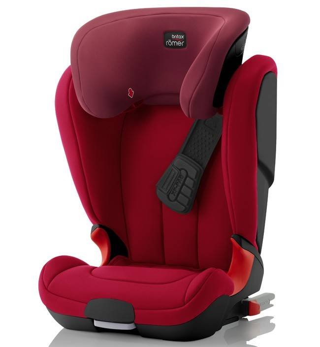 Детское автокресло 15-36 кг Britax Roemer Kidfix XP Black Series Flame Red