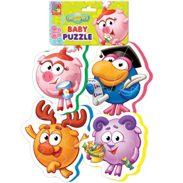 Мягкие пазлы Baby puzzle Смешарики-3 VT1106-48